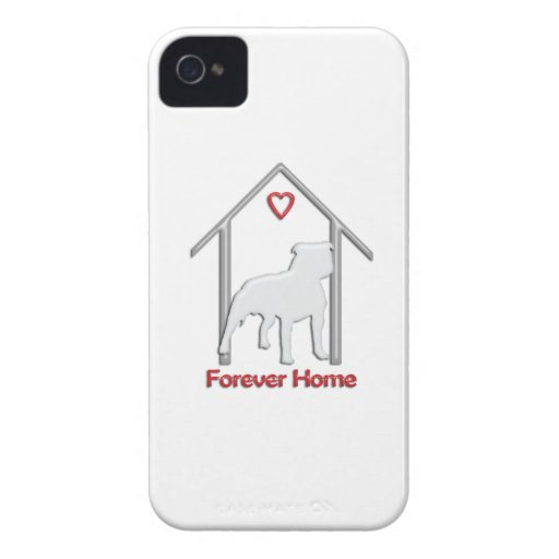 Logotipo blanco para siempre casero de Pitbull iPhone 4 Case-Mate Cobertura