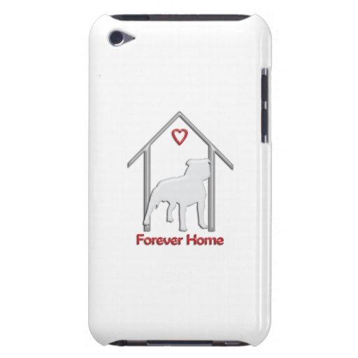 Logotipo blanco para siempre casero de Pitbull iPod Case-Mate Funda