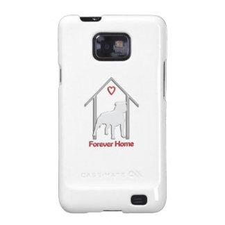 Logotipo blanco para siempre casero de Pitbull Samsung Galaxy SII Fundas