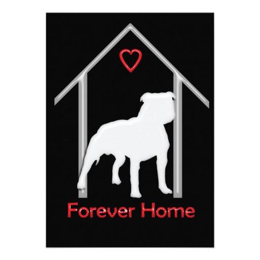 Logotipo blanco para siempre casero de Pitbull Invitacion Personal