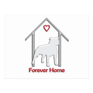 Logotipo blanco para siempre casero de Pitbull Postal