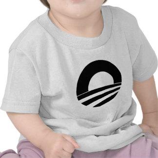 logotipo blanco y negro de obama camisetas