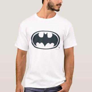 Logotipo blanco y negro del símbolo el | de Batman Camiseta