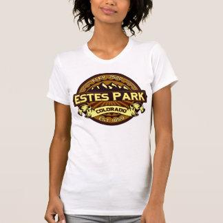 Logotipo Brown intenso del color del parque de Camisetas