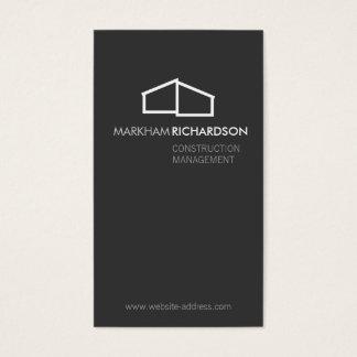 Logotipo casero moderno en el gris para la tarjeta de negocios