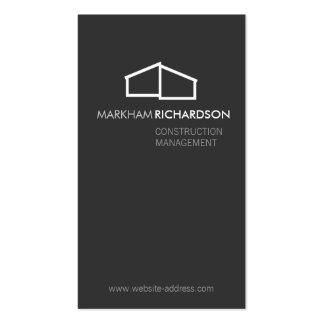 Logotipo casero moderno en el gris para la tarjetas de visita