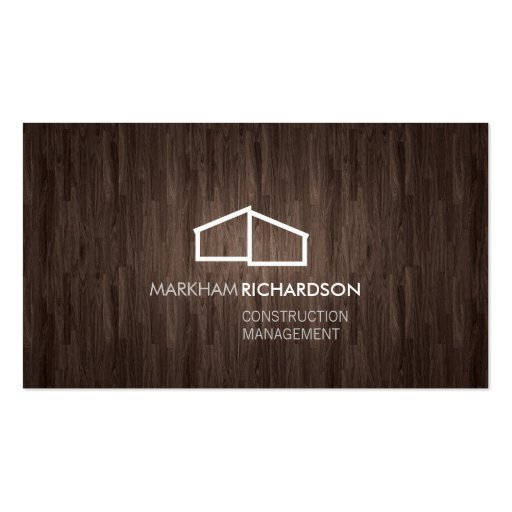 Logotipo casero moderno en la madera para la const plantilla de tarjeta personal