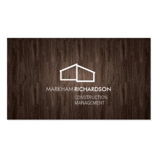 Logotipo casero moderno en la madera para la tarjetas de visita