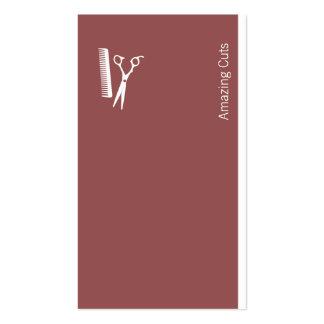 Logotipo (castaña oscura) tarjetas de visita
