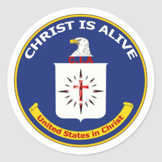 Logotipo CIA Pegatina Redonda