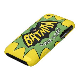 Logotipo clásico de la serie televisiva de Batman iPhone 3 Case-Mate Protectores