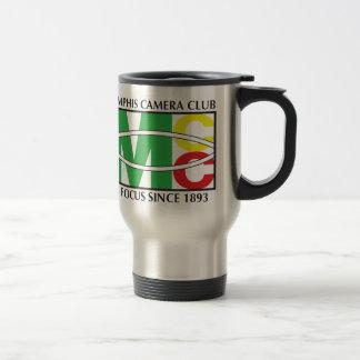 Logotipo clásico del acero inoxidable taza del
