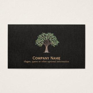 Logotipo clásico del árbol tarjeta de visita