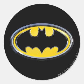 Logotipo clásico del símbolo el   de Batman Pegatina Redonda