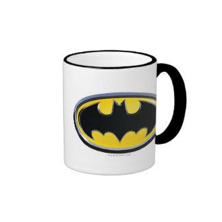 Logotipo clásico del símbolo el | de Batman Taza De Dos Colores