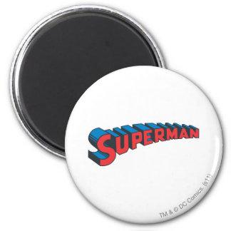 Logotipo clásico del superhombre el | imán redondo 5 cm