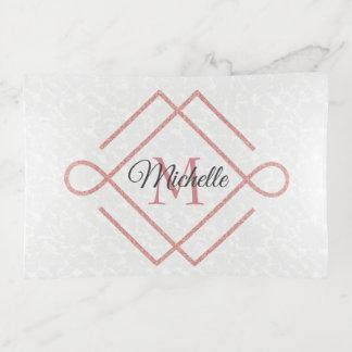 Logotipo color de rosa del purpurina del oro y