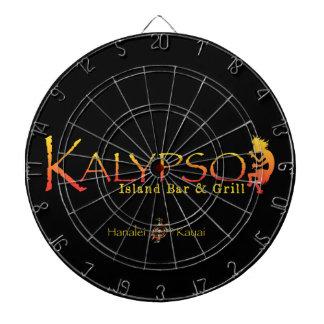 Logotipo colorido de Kalypso con la tortuga de mar Tabla Dardos
