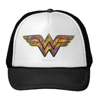 Logotipo colorido de la Mujer Maravilla Gorras
