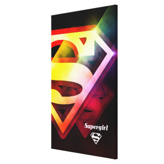 Logotipo colorido de Supergirl Impresiones En Lona Estiradas