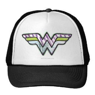 Logotipo colorido del bosquejo de la Mujer Maravil Gorras De Camionero