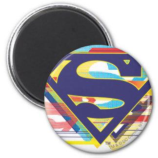 Logotipo colorido del S-Escudo el | del Imán Redondo 5 Cm