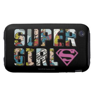Logotipo cómico de Supergirl iPhone 3 Tough Protector