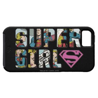 Logotipo cómico de Supergirl iPhone 5 Case-Mate Funda