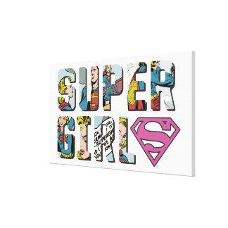 Logotipo cómico de Supergirl Lienzo Envuelto Para Galerías