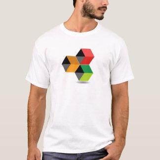 Logotipo con los cubos y la sombra coloridos camiseta