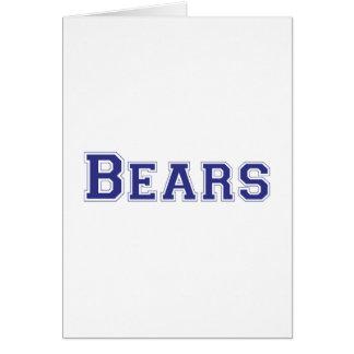 Logotipo cuadrado de los osos en azul felicitacion