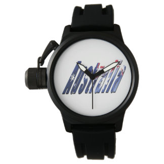 Logotipo de Australia, reloj de goma para hombre
