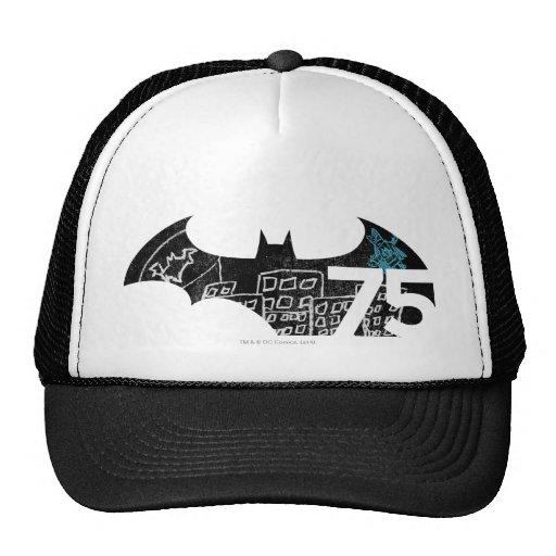 Logotipo de Batman 75 - pizarra Gorros Bordados
