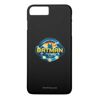 Logotipo de Batman con los iconos Funda iPhone 7 Plus