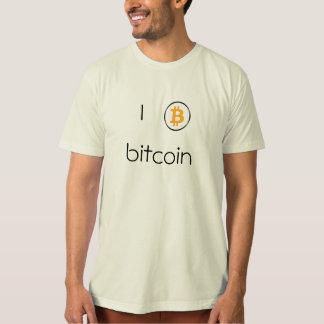 Logotipo de Bitcoin de la camiseta de los hombres