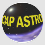 Logotipo de CABO ASTRO Pegatina Redonda