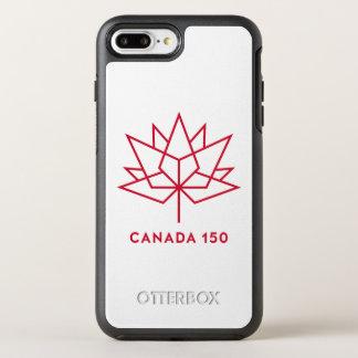 Logotipo de Canadá 150 Funda OtterBox Symmetry Para iPhone 7 Plus