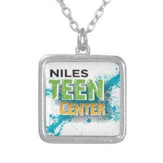 Logotipo de centro adolescente de Niles Colgante Cuadrado