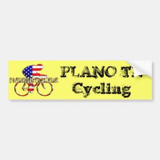 Logotipo de ciclo del patriota americano de la bic pegatina para coche