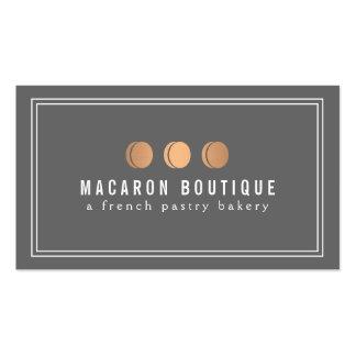 Logotipo de cobre elegante del trío de Macaron en  Plantilla De Tarjeta Personal