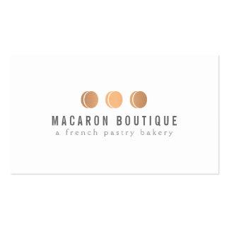Logotipo de cobre elegante del trío de Macaron en  Tarjeta De Visita