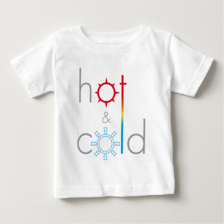 Logotipo de Hot&Cold Camiseta De Bebé
