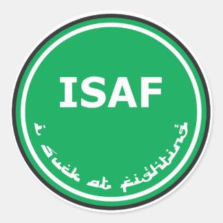 Logotipo de ISAF Pegatina Redonda