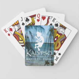 Logotipo de Kalypso Kane en blanco Baraja De Cartas