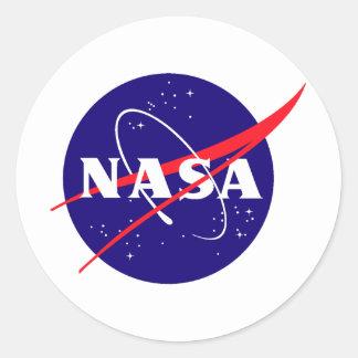 Logotipo de la albóndiga de la NASA Pegatinas Redondas