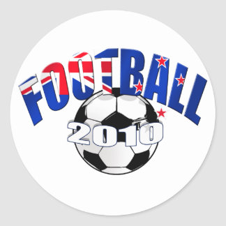 Logotipo de la bandera de Nueva Zelanda de la bola Pegatina Redonda