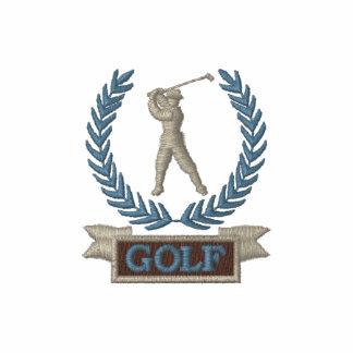 Logotipo de la bandera del golf polo