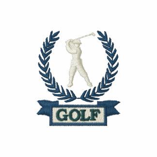 Logotipo de la bandera del golf camiseta polo bordada