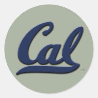 Logotipo de la caloría pegatina redonda