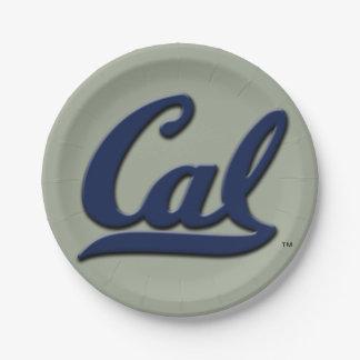Logotipo de la caloría plato de papel